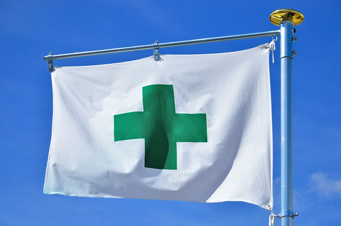 緑十字の旗